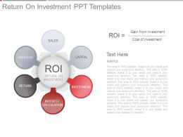 Return On Investment Ppt Templates
