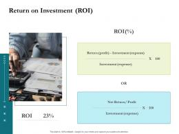 Return On Investment Roi Project Success Metrics Ppt File Vector