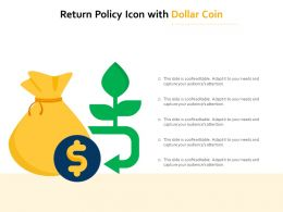 Return Policy Icon With Dollar Coin