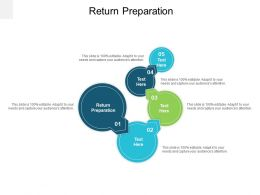 Return Preparation Ppt Powerpoint Presentation Visual Aids Summary Cpb