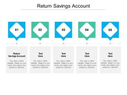 Return Savings Account Ppt Powerpoint Presentation Professional Backgrounds Cpb
