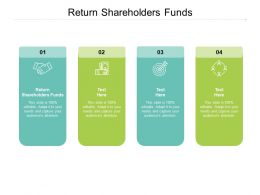 Return Shareholders Funds Ppt Powerpoint Presentation Styles Example Topics Cpb