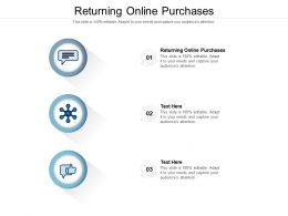Returning Online Purchases Ppt Powerpoint Presentation Layouts Slide Download Cpb