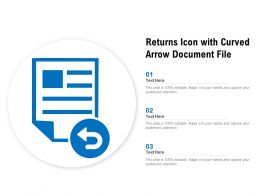 Returns Icon With Curved Arrow Document File
