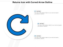 Returns Icon With Curved Arrow Outline