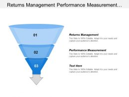 Returns Management Performance Measurement Product Life Cycle Management