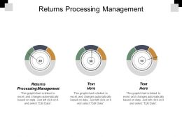 Returns Processing Management Ppt Powerpoint Presentation Portfolio Show Cpb