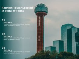 Reunion Tower Located In State Of Texas