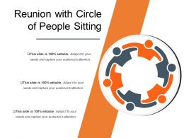 Reunion With Circle Of People Sitting