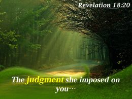 Revelation 18 20 The Judgment She Imposed Powerpoint Church Sermon