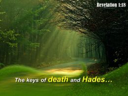 Revelation 1 18 The Keys Of Death Powerpoint Church Sermon