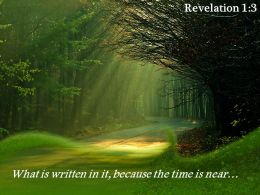 Revelation 1 3 What is written in it because PowerPoint Church Sermon