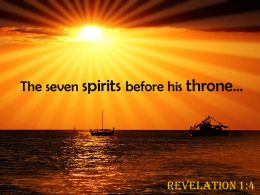 Revelation 1 4 The Seven Spirits Before Powerpoint Church Sermon