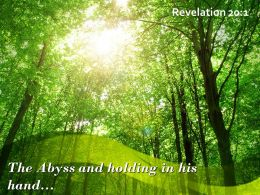 Revelation 20 1 The Abyss And Holding In His Powerpoint Church Sermon
