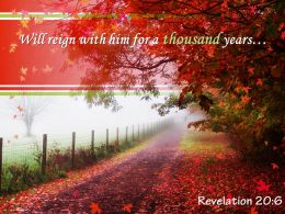 Revelation 20 6 Will Reign With Him Powerpoint Church Sermon
