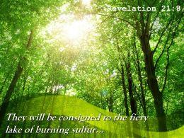 Revelation 21 8 The Fiery Lake Of Burning Sulfur Powerpoint Church Sermon