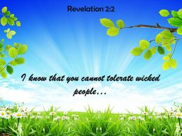 Revelation 2 2 I Know That You Cannot Powerpoint Church Sermon