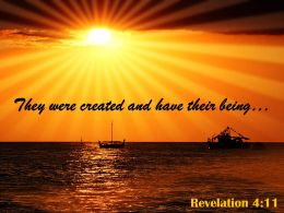 Revelation 4 11 They Were Created And Have Powerpoint Church Sermon