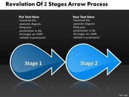 revelation_of_2_stage_arrow_process_best_flow_chart_powerpoint_slides_Slide01