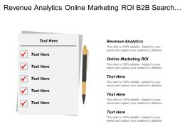 Revenue Analytics Online Marketing Roi B2b Search Marketing Cpb