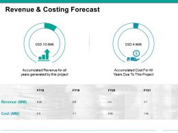 Revenue And Costing Forecast Powerpoint Slide Images