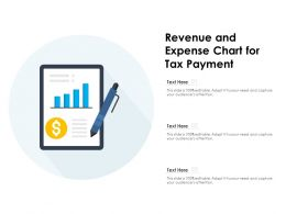 Revenue And Expense Chart For Tax Payment