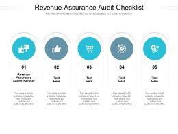 Revenue Assurance Audit Checklist Ppt Powerpoint Presentation File Gridlines