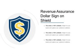 Revenue Assurance Dollar Sign On Shield