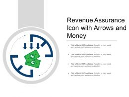 Revenue Assurance Icon With Arrows And Money