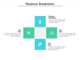 Revenue Breakdown Ppt Powerpoint Presentation Slides Visual Aids Cpb
