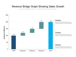 Revenue Bridge Graph Showing Sales Growth