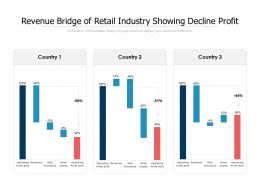 Revenue Bridge Of Retail Industry Showing Decline Profit