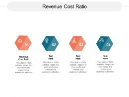 Revenue Cost Ratio Ppt Powerpoint Presentation Infographic Template Deck Cpb