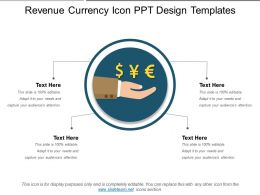 Revenue Currency Icon Ppt Design Templates