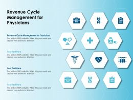 Revenue Cycle Management For Physicians Ppt Powerpoint Presentation Professional Guide