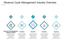 Revenue Cycle Management Industry Overview Ppt Powerpoint Presentation Icon Summary Cpb