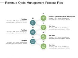 Revenue Cycle Management Process Flow Ppt Powerpoint Presentation Layouts Cpb