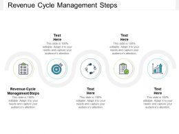 Revenue Cycle Management Steps Ppt Powerpoint Presentation Show Layout Cpb