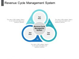 Revenue Cycle Management System Ppt Powerpoint Presentation Pictures Icons Cpb