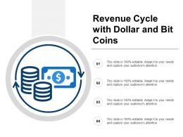Revenue Cycle With Dollar And Bit Coins