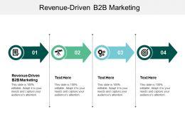 Revenue Driven B2B Marketing Ppt Powerpoint Presentation Model Gridlines Cpb