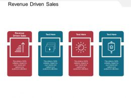 Revenue Driven Sales Ppt Powerpoint Presentation Portfolio Graphic Images Cpb