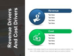 Revenue Drivers And Cost Drivers Sample Of Ppt Presentation