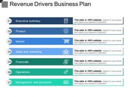Revenue Drivers Business Plan Example Ppt Presentation