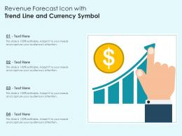Revenue Forecast Icon With Trend Line And Currency Symbol