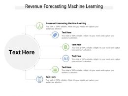 Revenue Forecasting Machine Learning Ppt Powerpoint Presentation Gallery Slide Cpb