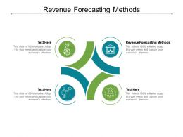 Revenue Forecasting Methods Ppt Powerpoint Presentation Icon Layouts Cpb