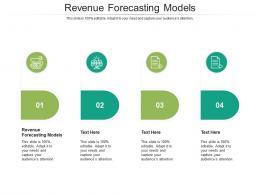 Revenue Forecasting Models Ppt Powerpoint Presentation Summary Smartart Cpb