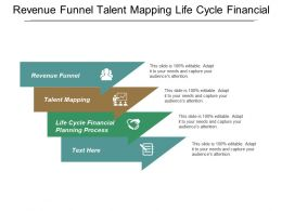 Revenue Funnel Talent Mapping Life Cycle Financial Planning Process Cpb