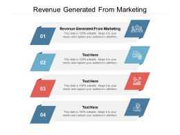 Revenue Generated From Marketing Ppt Powerpoint Presentation Gallery Example File Cpb
